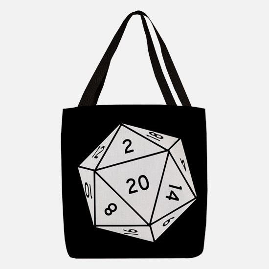 D20 Dice Polyester Tote Bag