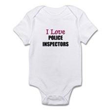 I Love POLICE INSPECTORS Infant Bodysuit