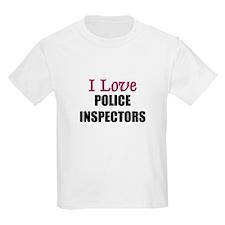 I Love POLICE INSPECTORS T-Shirt