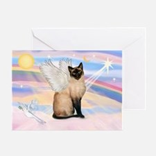 Siamese Cat Angel Greeting Card