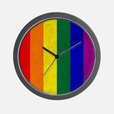 Vintage Rainbow Gay Pride Flag Wall Clock