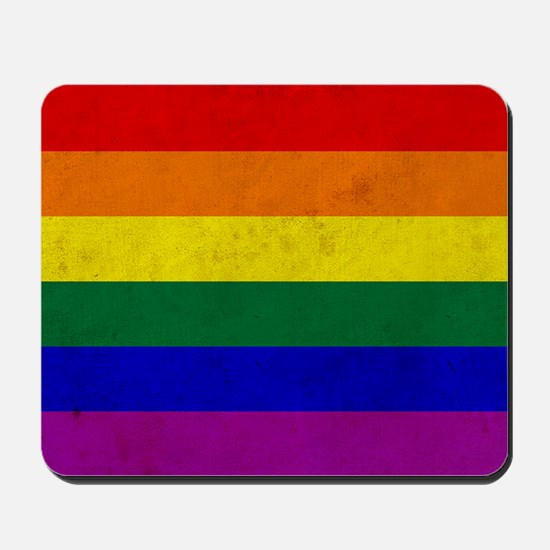 Vintage Rainbow Gay Pride Flag Mousepad