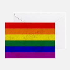 Vintage Rainbow Gay Pride Flag Greeting Card