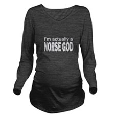NORSE GOD Long Sleeve Maternity T-Shirt