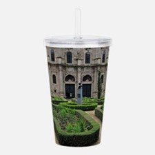Gardens and cathedral, Acrylic Double-wall Tumbler