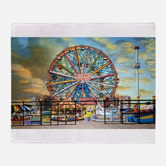 Wonder Wheel Park Throw Blanket