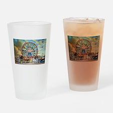 Wonder Wheel Park Drinking Glass