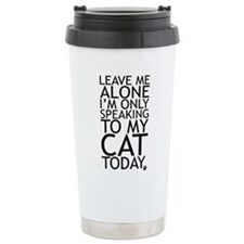 Cute I am alone Travel Mug