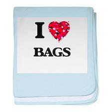 I Love Bags baby blanket