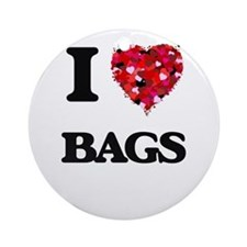 I Love Bags Ornament (Round)