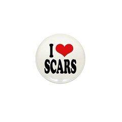I Love Scars Mini Button (10 pack)