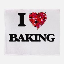 I Love Baking Throw Blanket