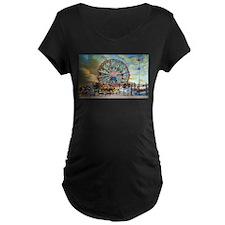 Wonder Wheel Park Maternity T-Shirt