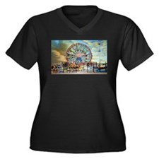 Wonder Wheel Park Plus Size T-Shirt