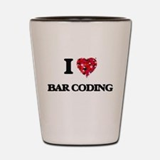 I Love Bar Coding Shot Glass