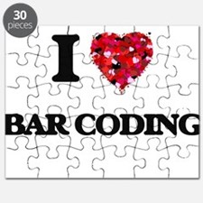 I Love Bar Coding Puzzle
