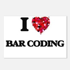 I Love Bar Coding Postcards (Package of 8)