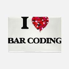 I Love Bar Coding Magnets