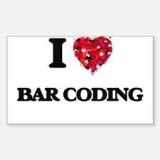 I Love Bar Coding Decal