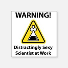 "Cool Scientist at work Square Sticker 3"" x 3"""