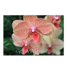 Get well soon orchids Postcards (Package of 8)