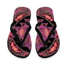 Lakshmi Yantra Mandala- Rose Flip Flops