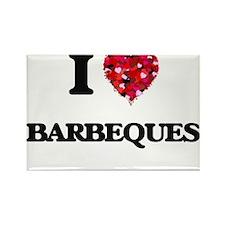 I Love Barbeques Magnets