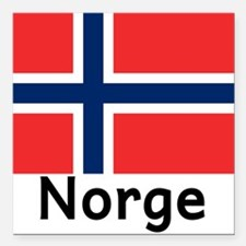 "Norge Square Car Magnet 3"" x 3"""