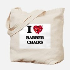 I Love Barber Chairs Tote Bag