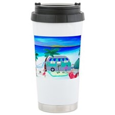 Cute Beach art Travel Mug
