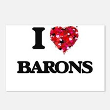 I Love Barons Postcards (Package of 8)