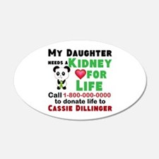 Personalize Kidney Donation Sign Wall Decal