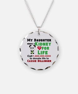 Personalize, Kidney Donation Necklace