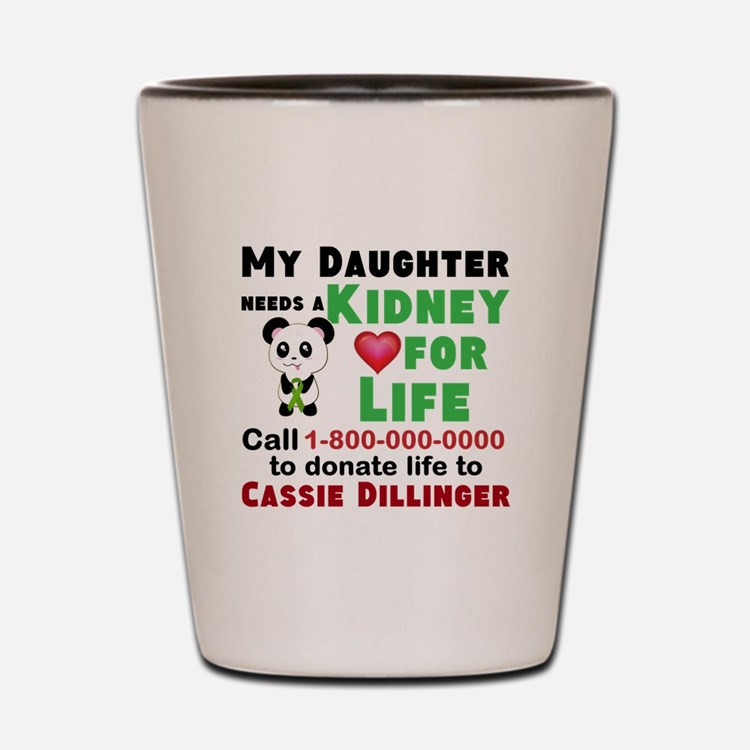 Personalize, Kidney Donation Shot Glass
