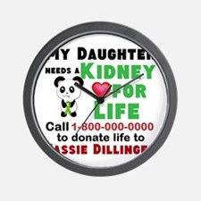 Personalize, Kidney Donation Wall Clock