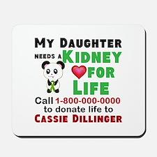Personalize, Kidney Donation Mousepad