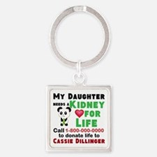 Personalize, Kidney Donation Square Keychain