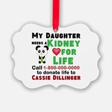 Personalize, Kidney Donation Ornament