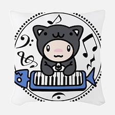 Cat_Method Woven Throw Pillow