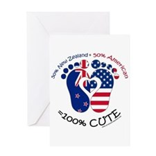 New Zealand American Baby Greeting Cards