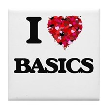 I Love Basics Tile Coaster