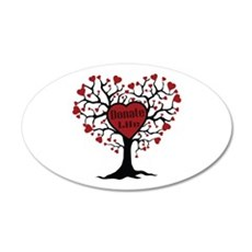 Donate Life Tree 20x12 Oval Wall Decal
