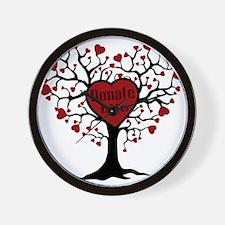 Donate Life Tree Wall Clock
