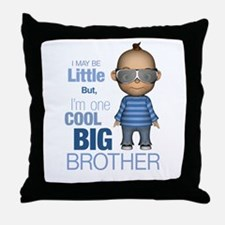 Little Cool Big Brother Throw Pillow