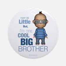 Little Cool Big Brother Ornament (Round)