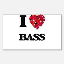 I Love Bass Decal