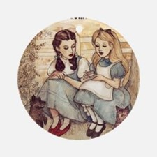Dorothy and Alice Ornament (Round)