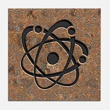 Iron Oxide Atom Tile Coaster