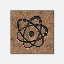 "Iron Oxide Atom Square Sticker 3"" x 3"""