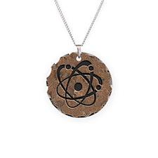 Iron Oxide Atom Necklace